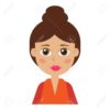 Female icon for avatar. Cartoon character collection. It can be used as - logo, pictogram, icon, infographic element.